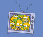 Les Simpson (The Simpsons) prisonnier de leur TV
