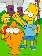 Bart et Lisa attrapent Blinky, un poisson à trois yeux