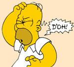 Homer Simpson, d'oh!